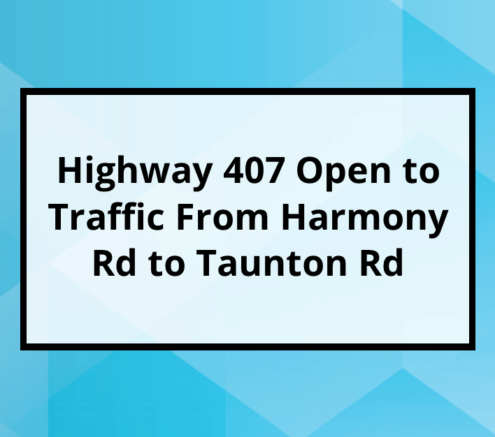 407 Open From Harmony to Taunton