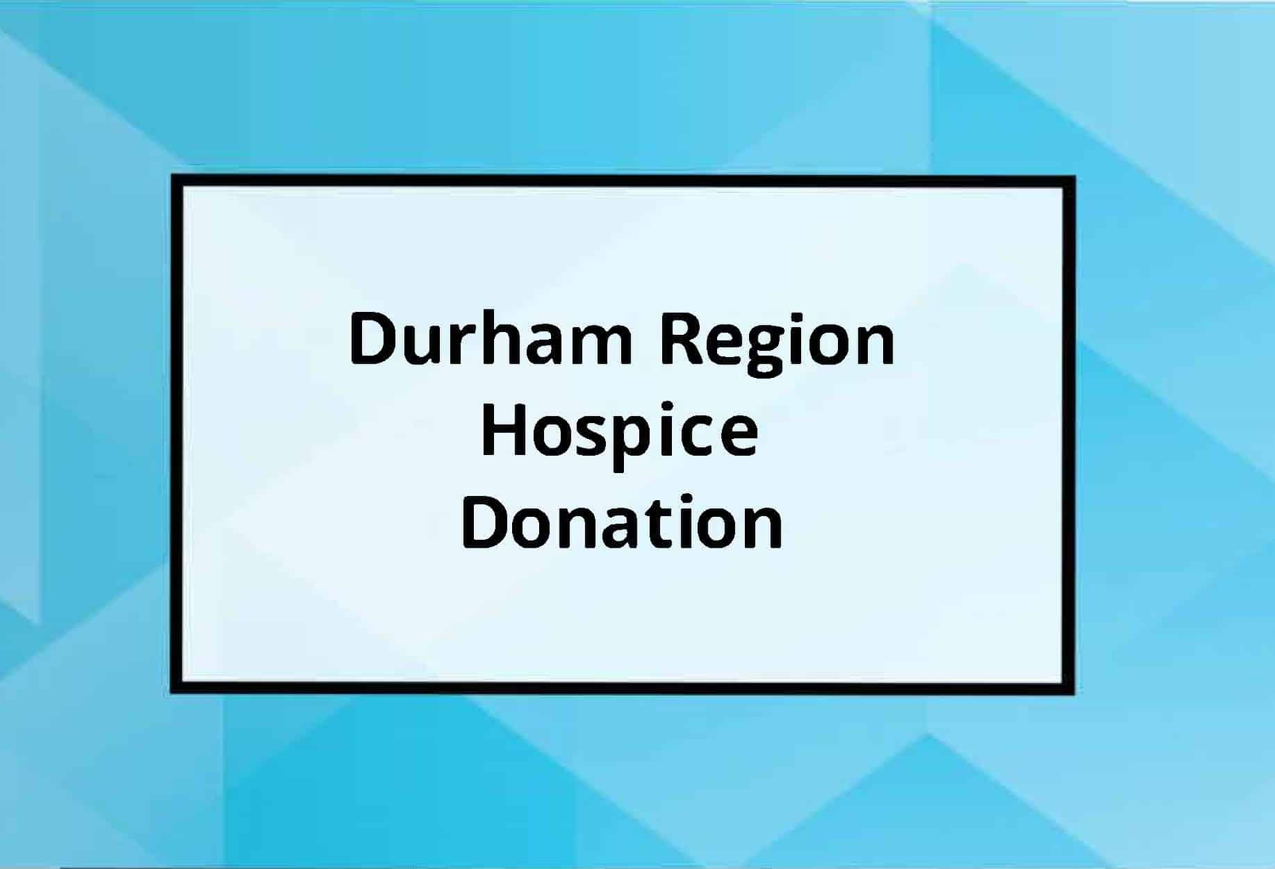 Durham Region Hospice Donor Event